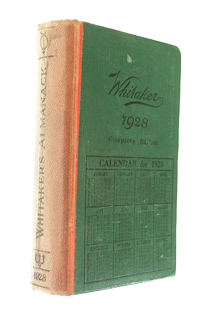 Almanack for the Year of Our Lord 1928, Whitaker, J