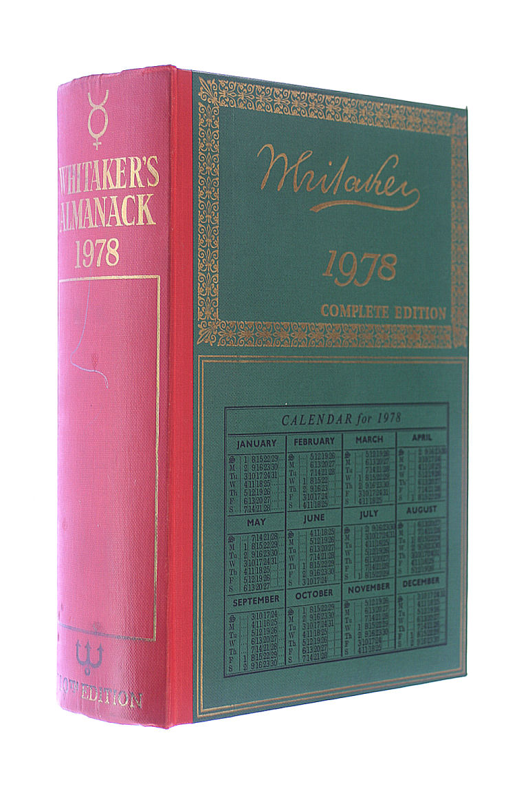 Image for Whitaker's Almanack 1978 : Complete Edition,