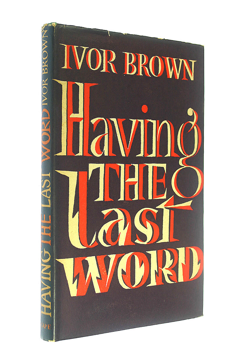 Image for Having the Last Word