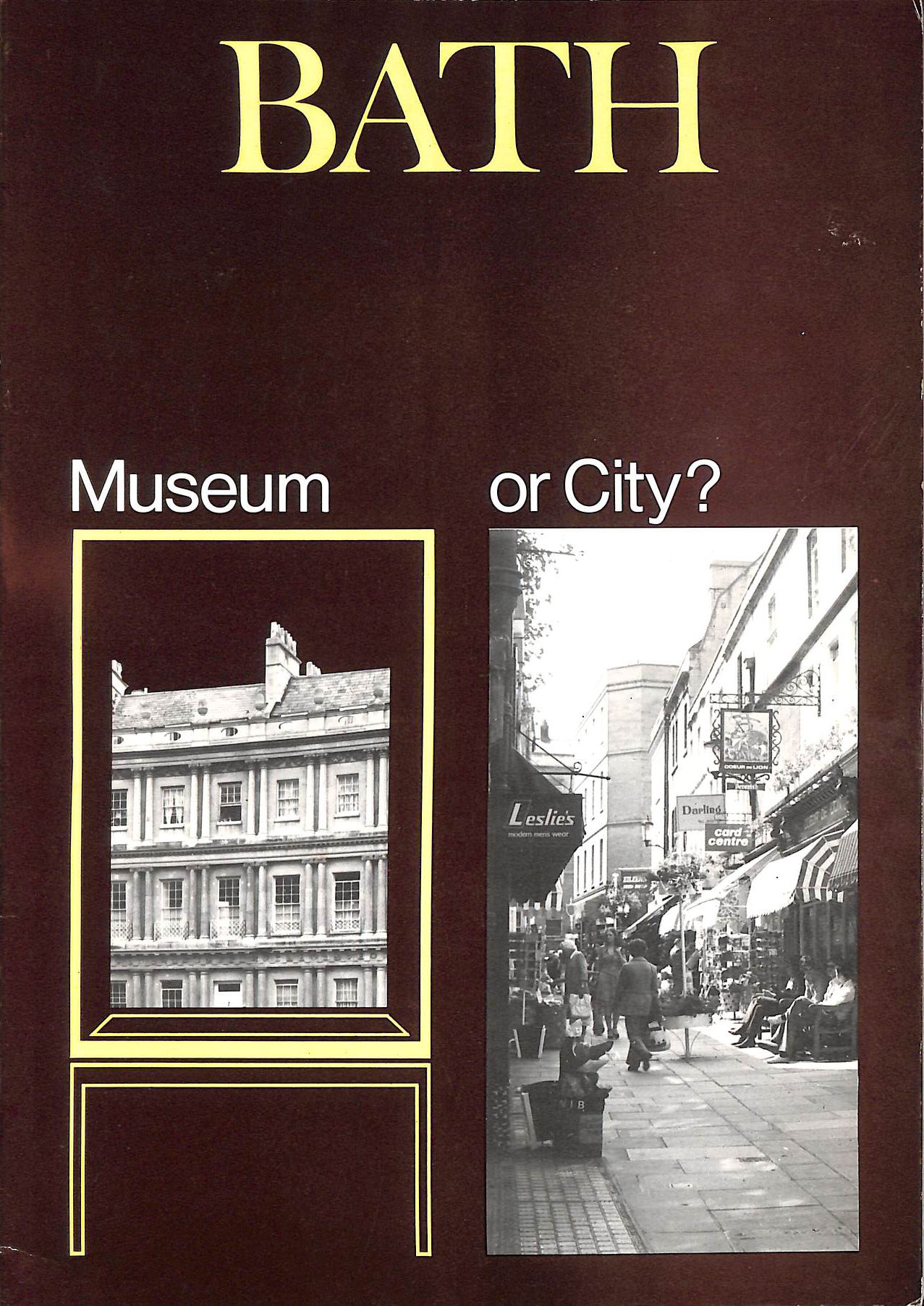 Image for Bath, museum or city?