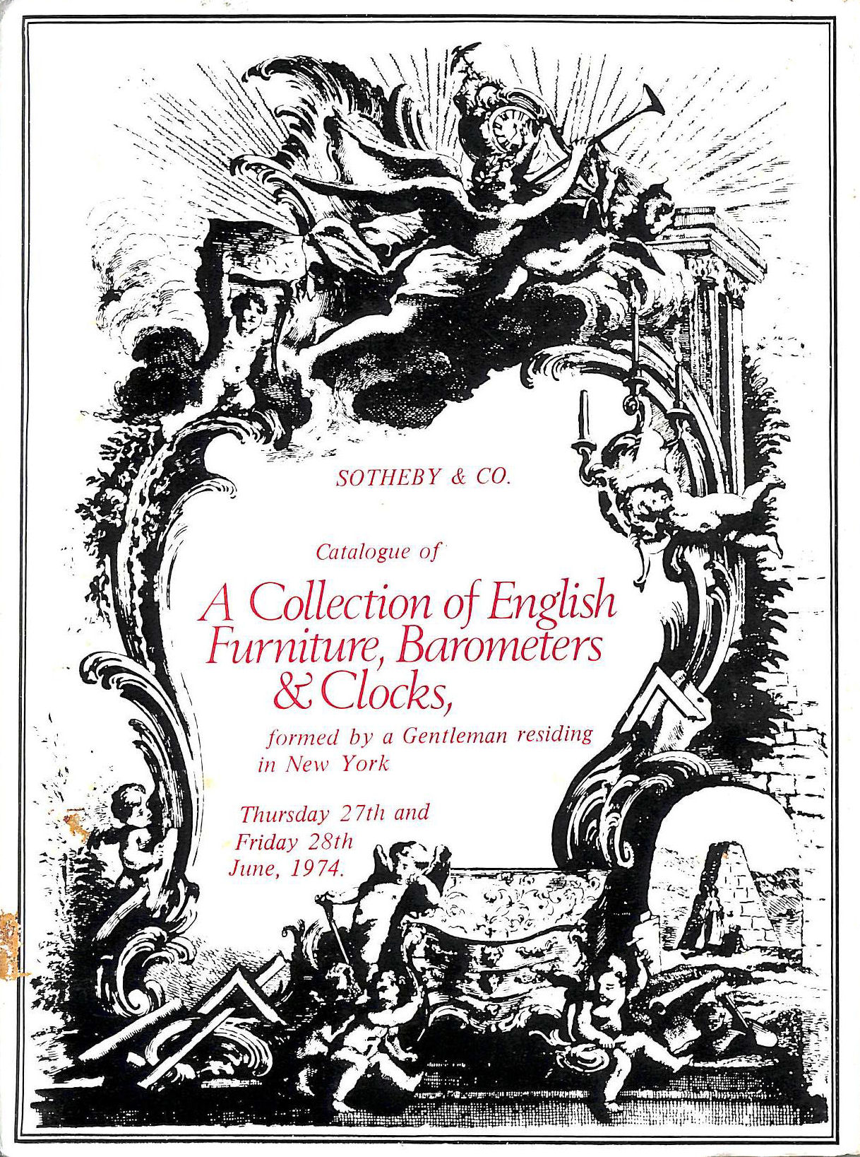 Image for Sotheby Catalogue Of A Collection Of English Furniture, Barometers and Clocks