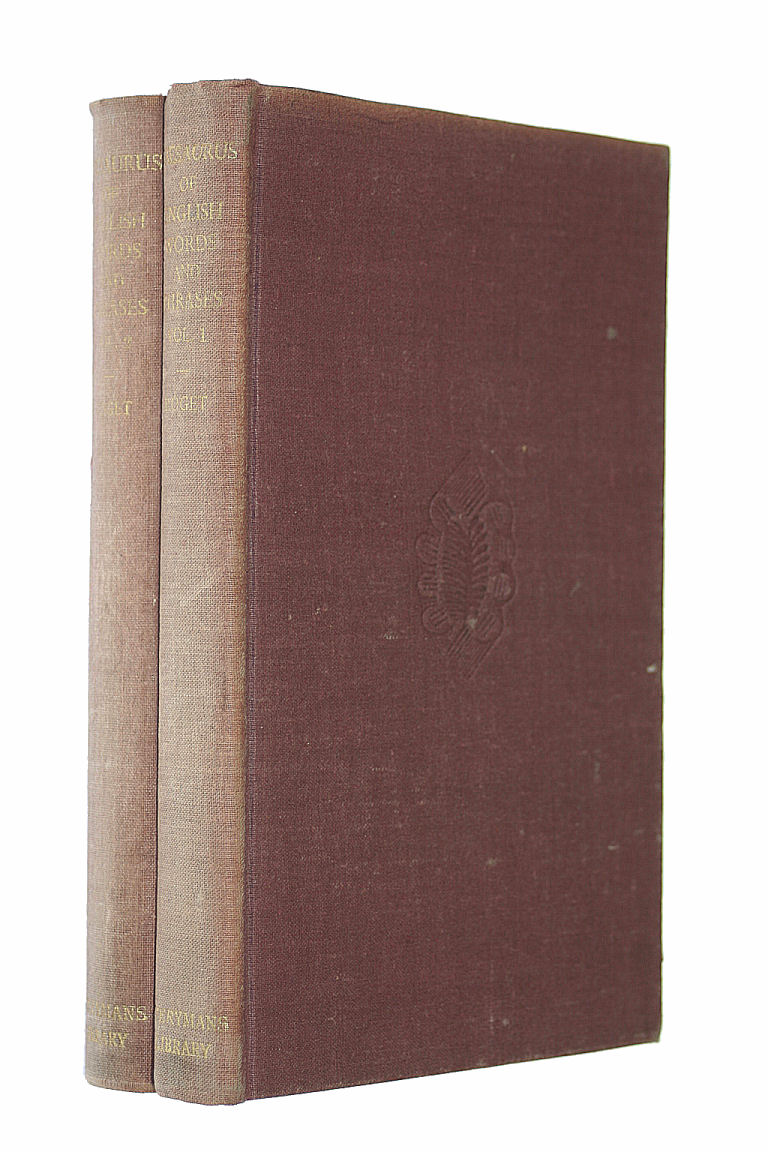 Thesaurus of English Words and Phrases 2 volume set, Roget Peter