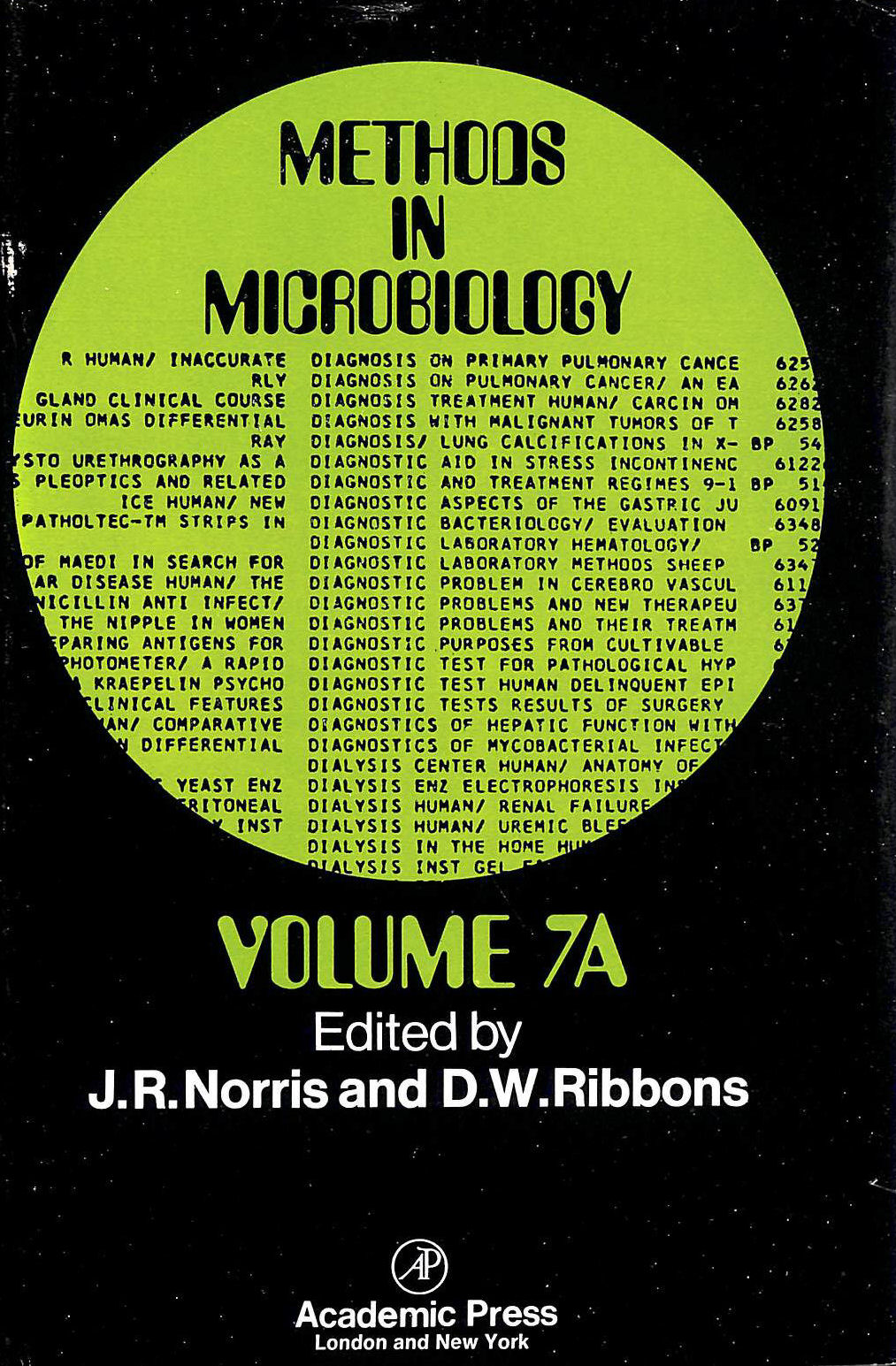 Image for Methods in Microbiology: v. 7A