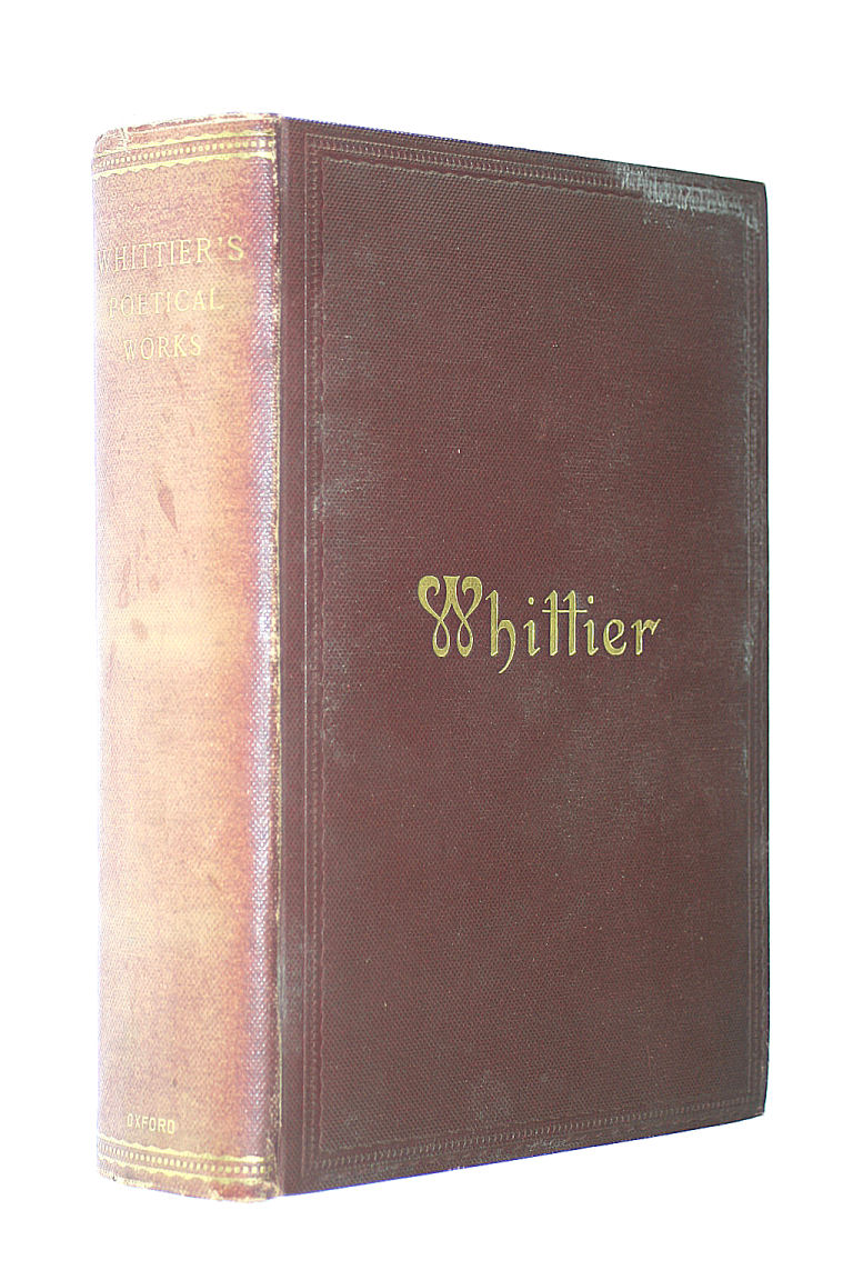 Image for Whittier's Poetical Works