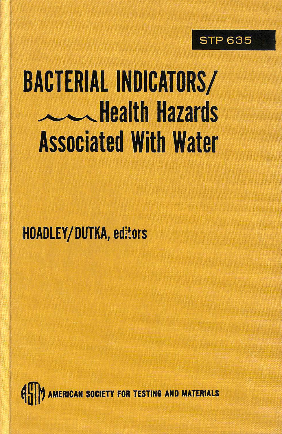 Image for Bacterial Indicators/Health Hazards Associated with Water