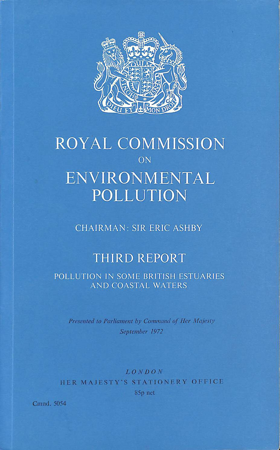 Image for Pollution in Some British Estuaries and Coastal Waters: 3rd Report (Command 5054)