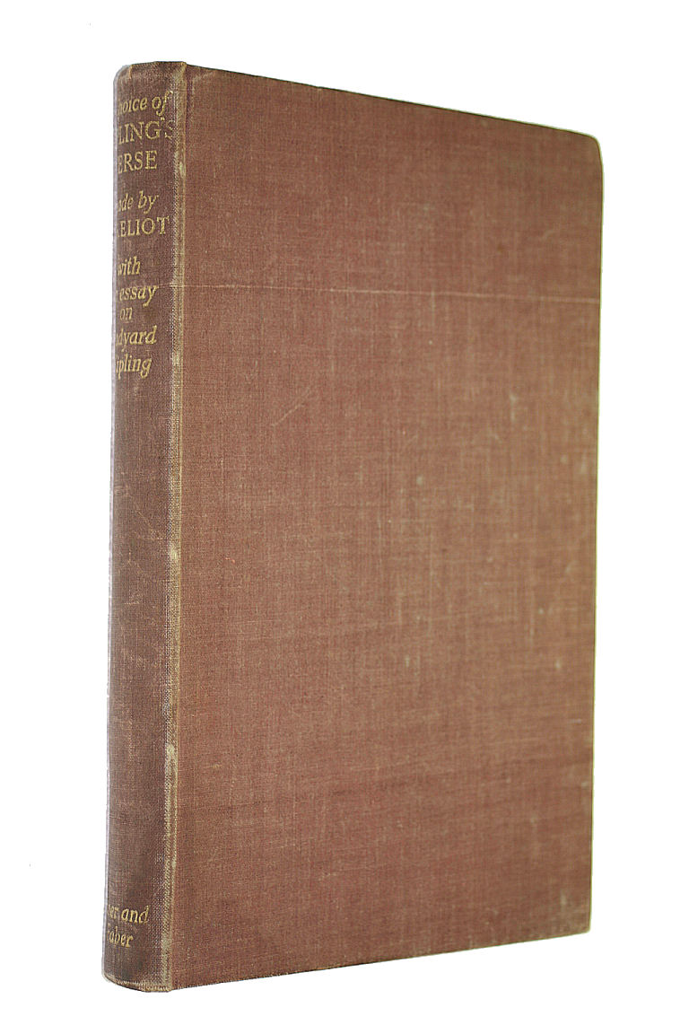 Image for A Choice Of Kipling'S Verse Made By T. S. Eliot With An Essay On Rudyard Kipling