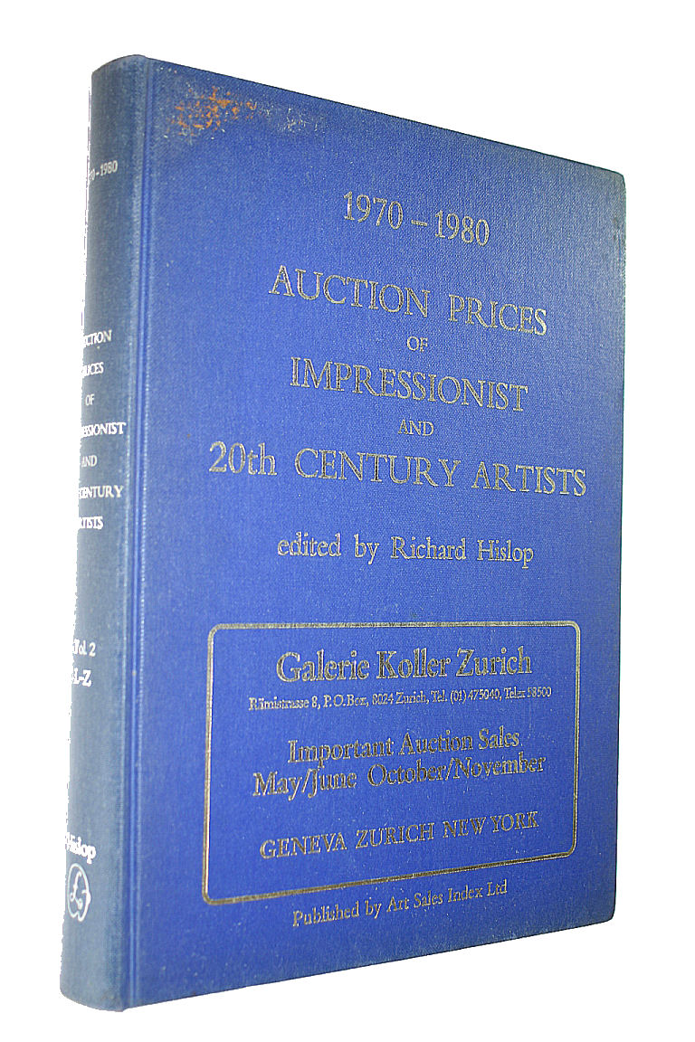 Image for Auction Prices of Impressionist and Twentieth-century Artists 1970-80: Vol 2