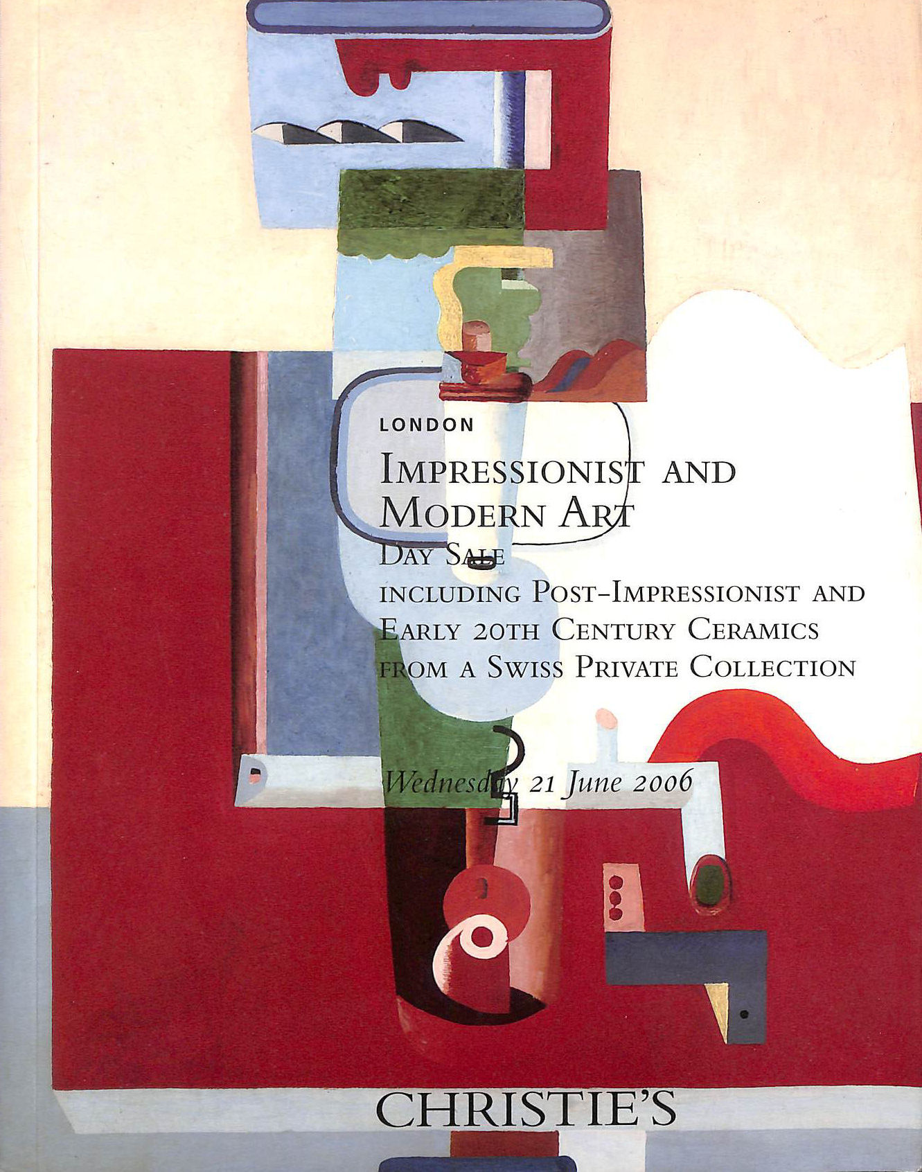 Image for Impressionist and Modern Art Including Post-Impressionist and Early 20th Century Ceramics from a Swiss Private Collection - Christie's London - 21 June 2006