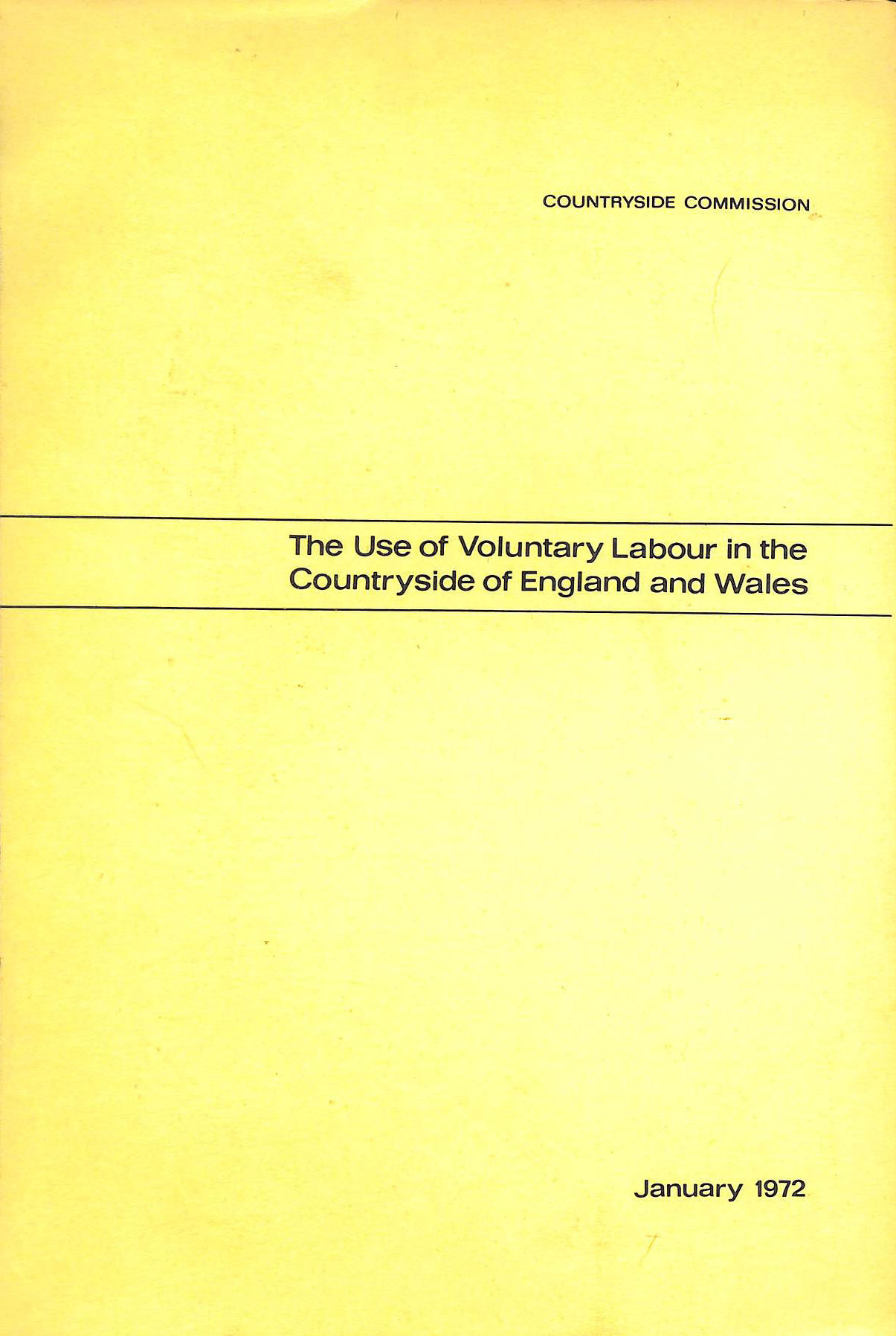 Image for The Use of Voluntary Labour in the Countryside of England and Wales