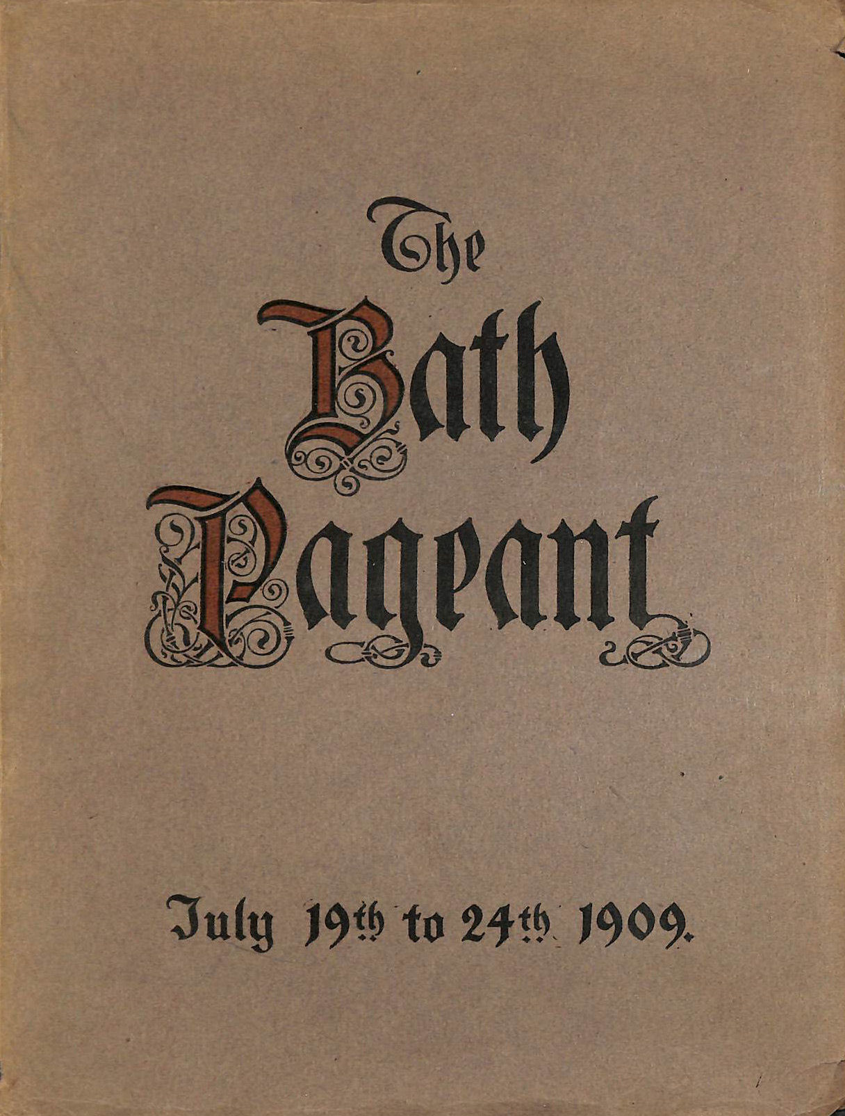 Bath Historical Pageant July 19Th To 24Th, 1909