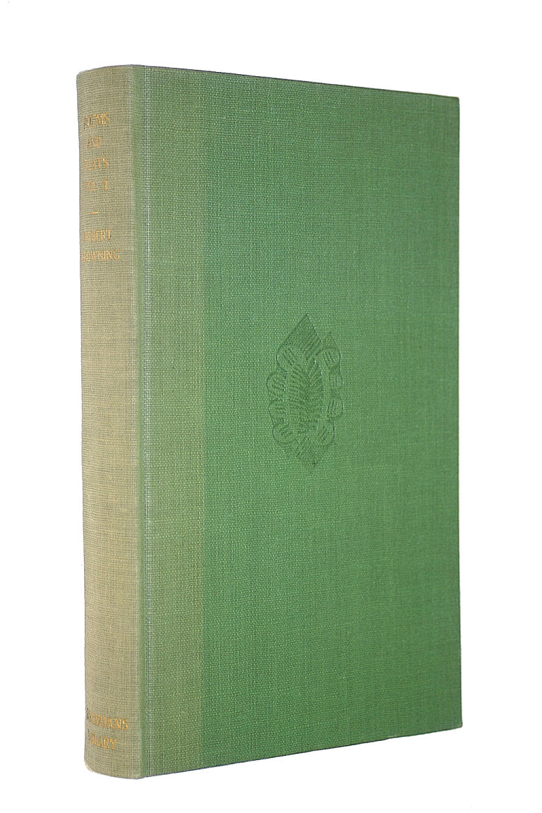 Image for The Poems and Plays of Robert Browning 1833-1844, Vol. 1