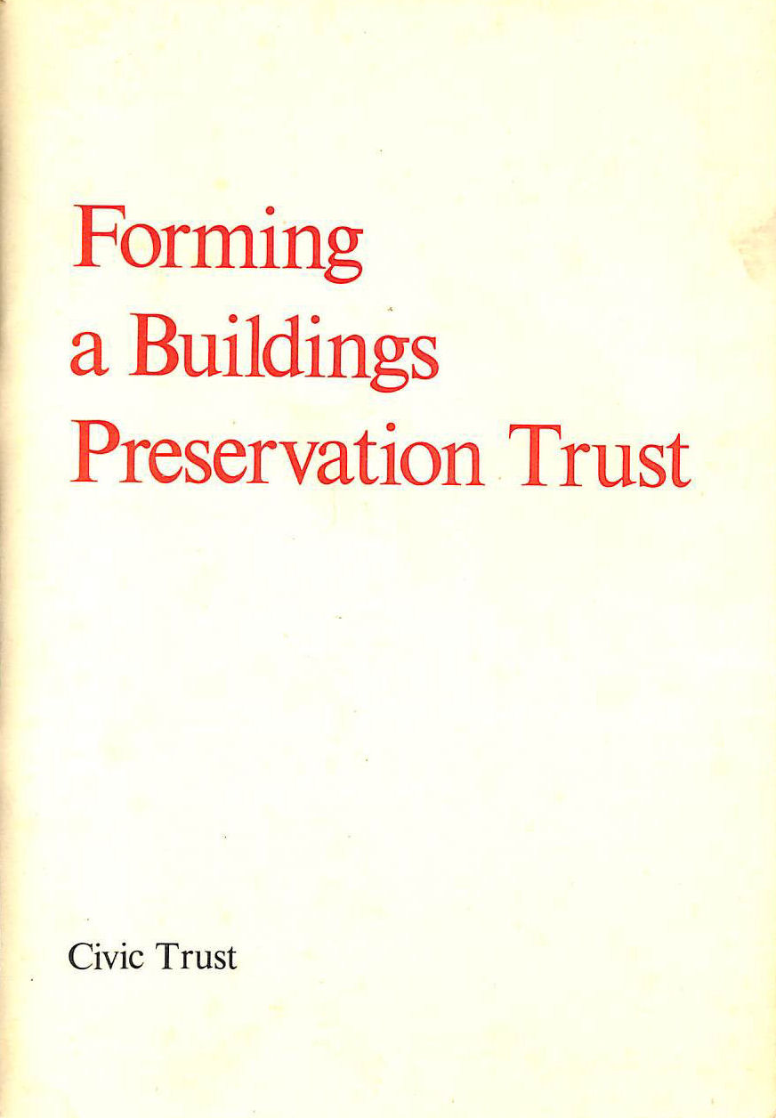 Image for Forming a Buildings Preservation Trust
