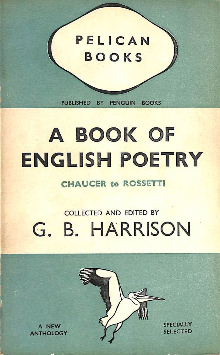 Image for A Book of English Poetry: Chaucer to Rossetti (Pelican books)