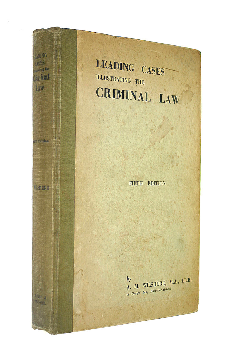 Image for A Selection of Leading Cases Illustrating the Criminal Law