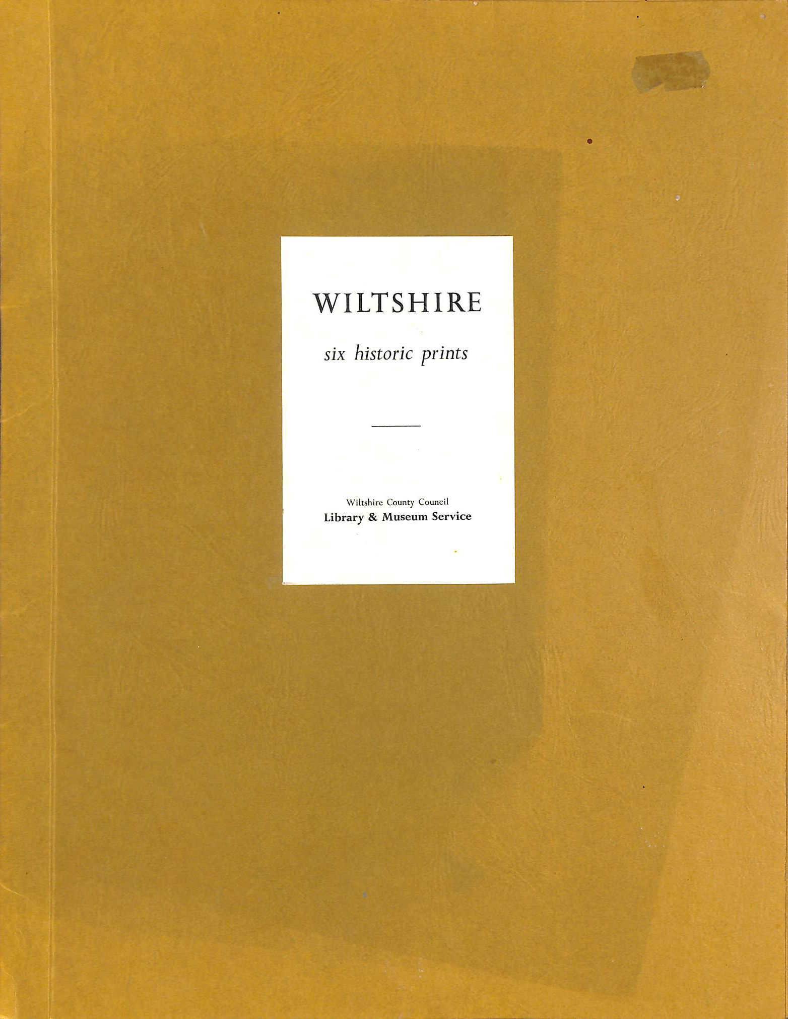 Image for Six Historic Prints of Wiltshire