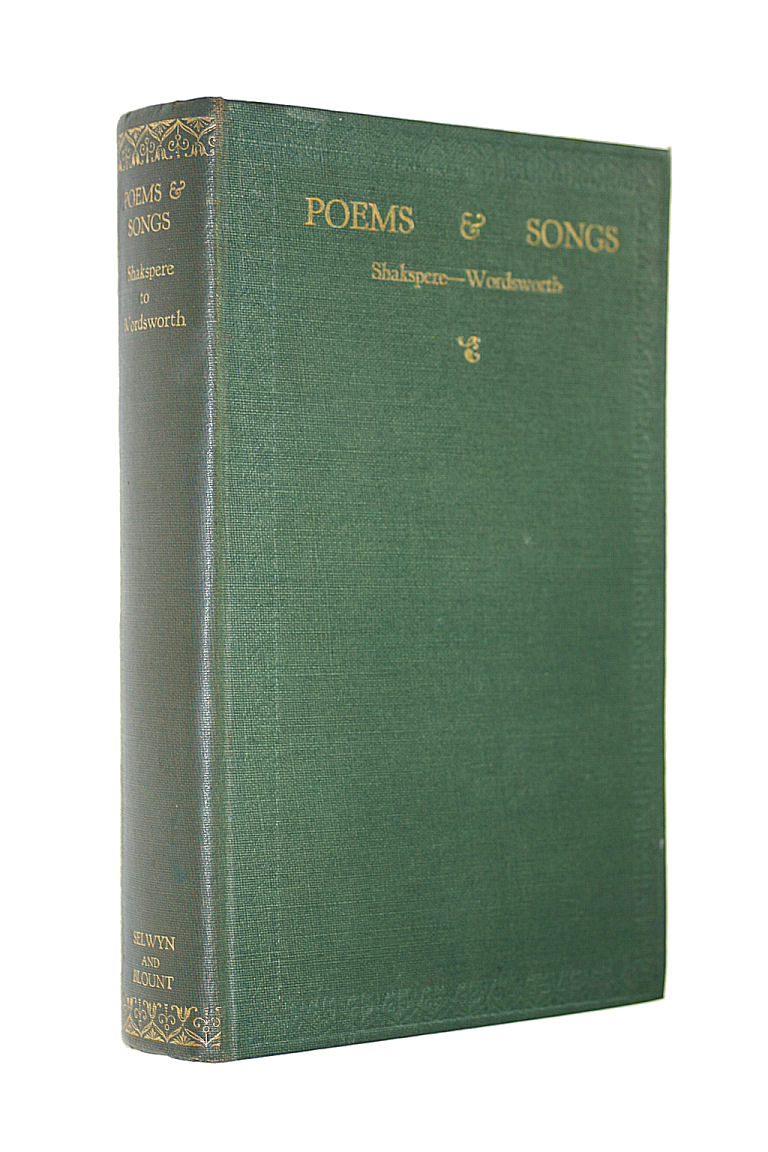 Image for Poems and Songs. Shakspere-Wordsworth and after A Short Anthology