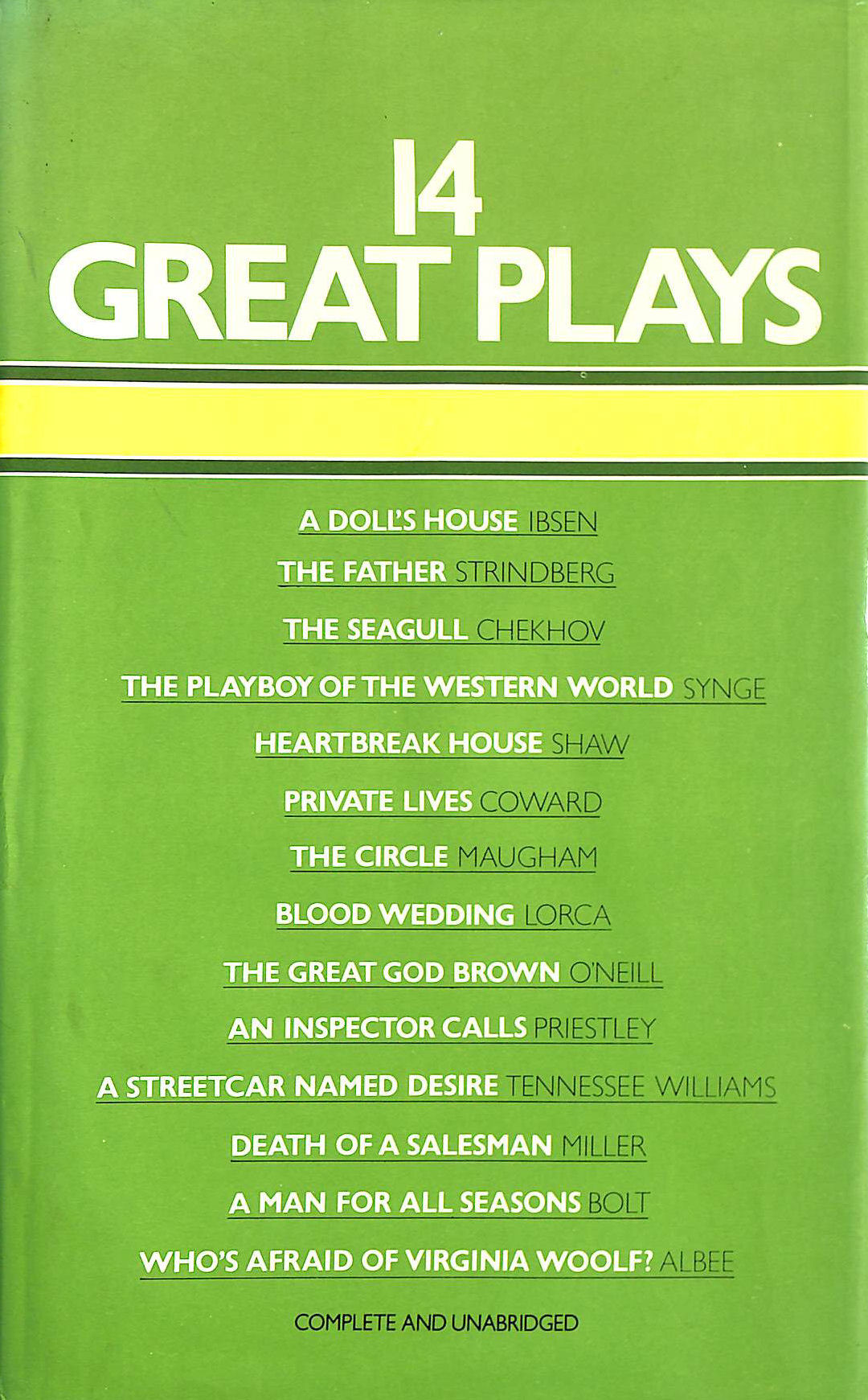 Image for 14 Great Plays (Fourteen Great Plays)