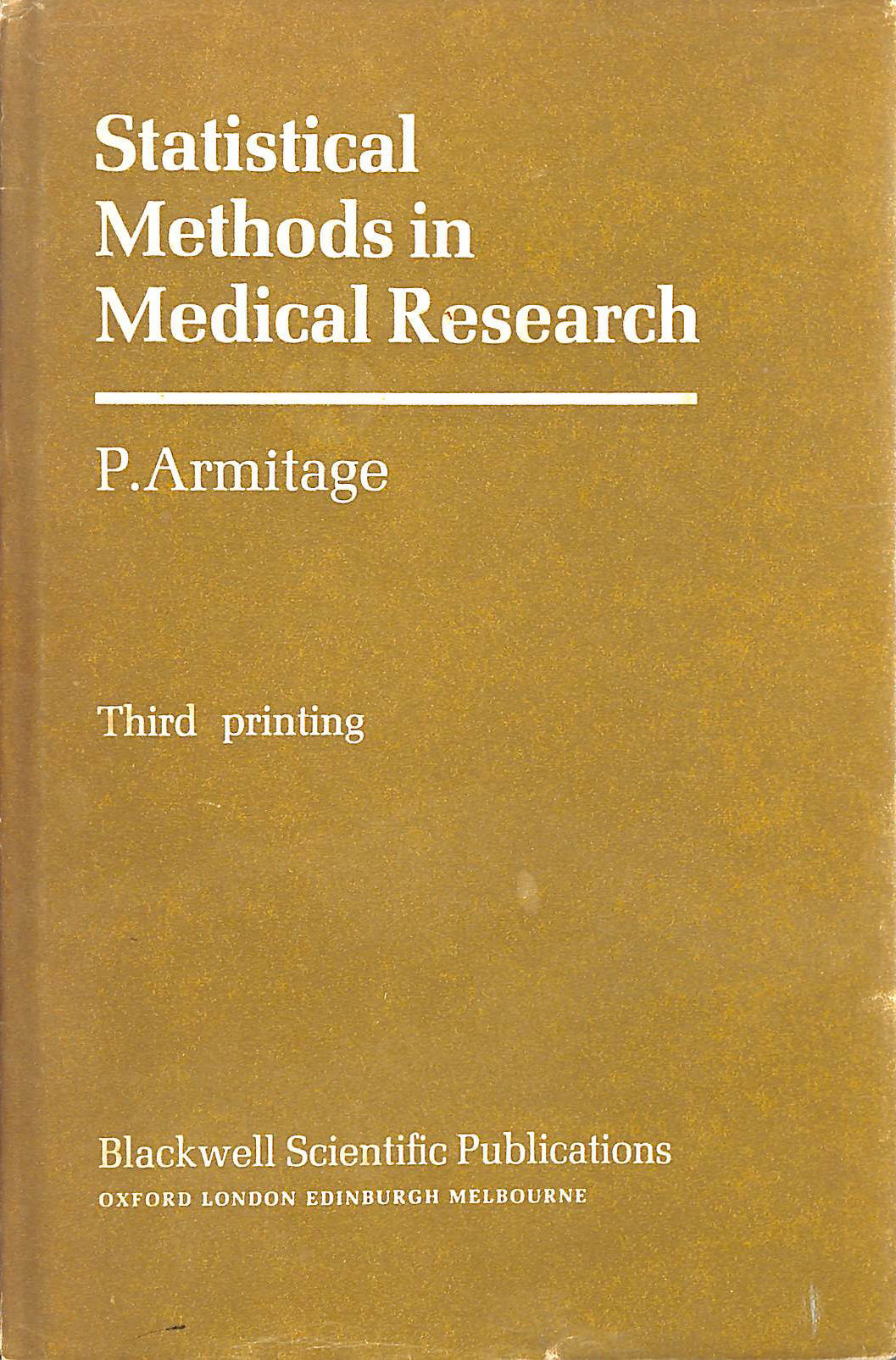 Image for Statistical Methods in Medical Research