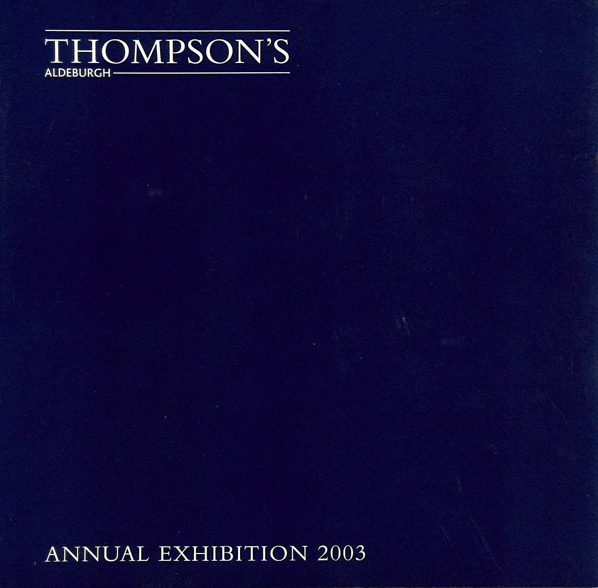 Image for Annual Exhibition 2003