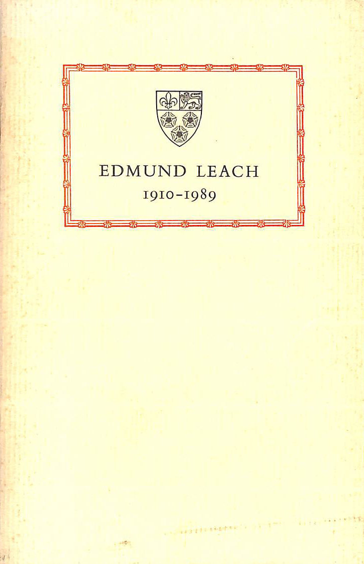 Image for Edmund Leach 1910-1989, Provost, Emeritus Professor of Social Anthropology
