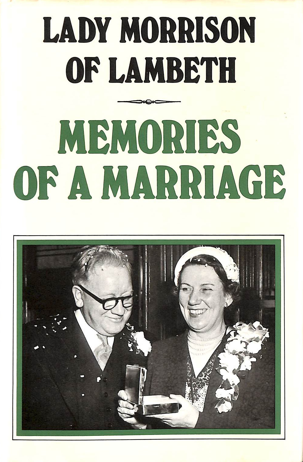 Image for Memories of a Marriage