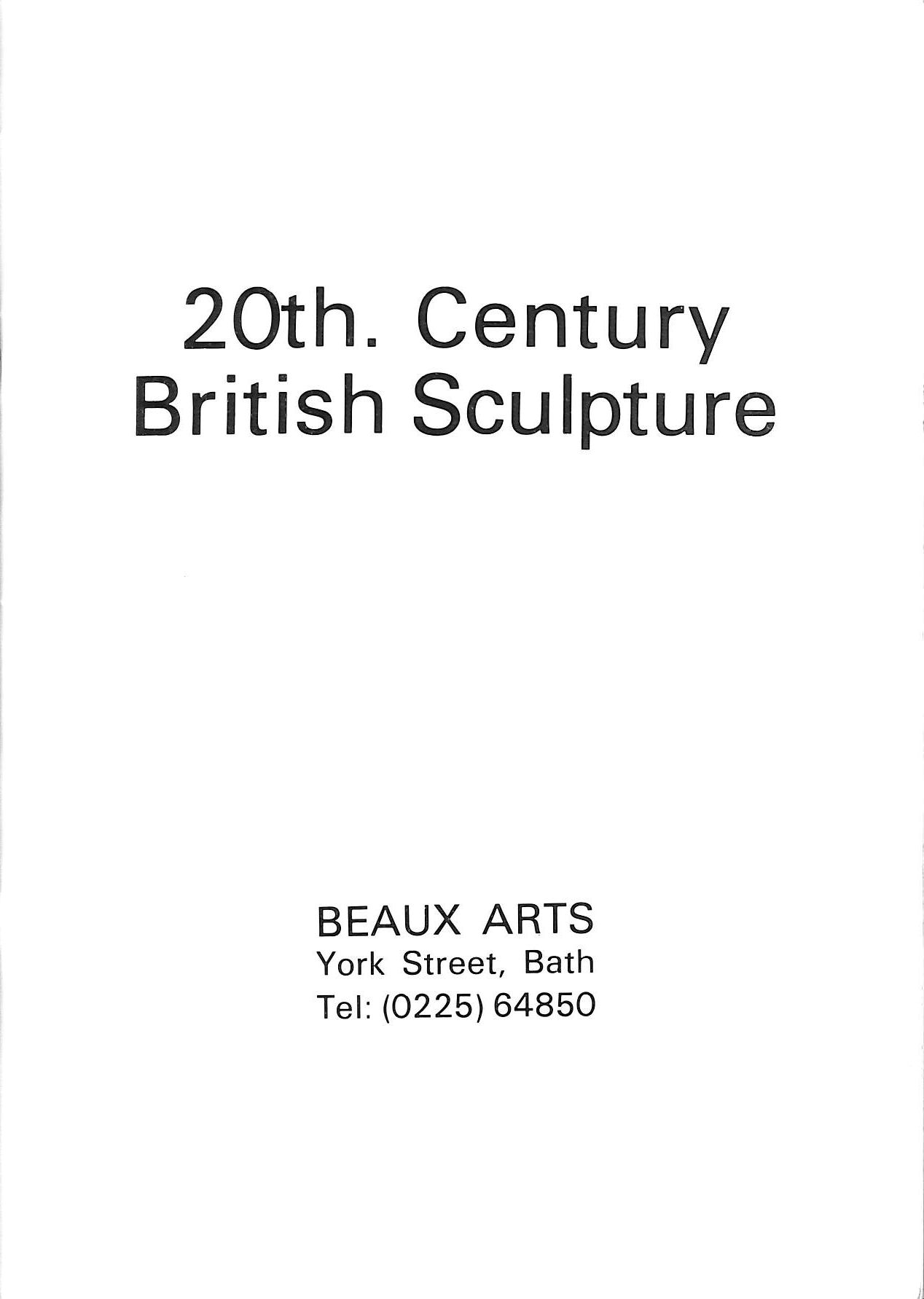 Image for 20th Century British Sculpture Beaux Arts