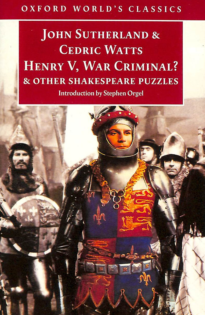 Image for Oxford World's Classics: Henry V, War Criminal?: and Other Shakespeare Puzzles
