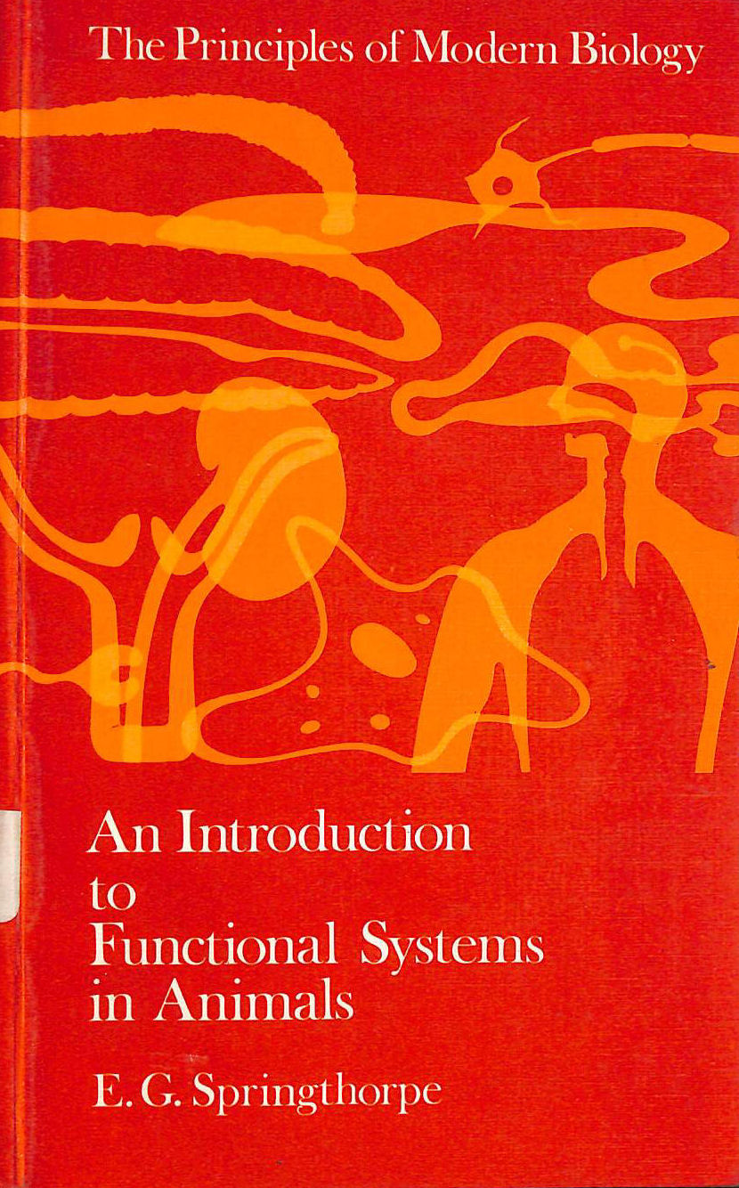 Image for Introduction to Functional Systems in Animals (Principle of Modern Biology)