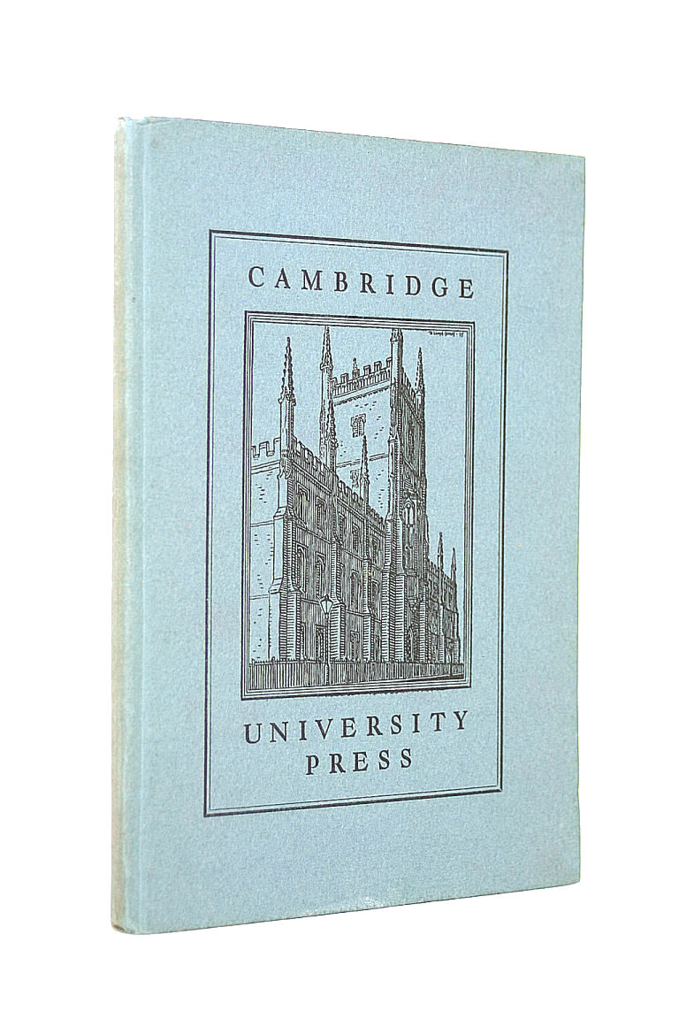 Image for Cambridge University Press. Notes in its history and Development