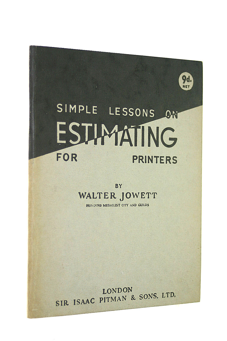 Image for Simple Lessons on Estimating for Printers
