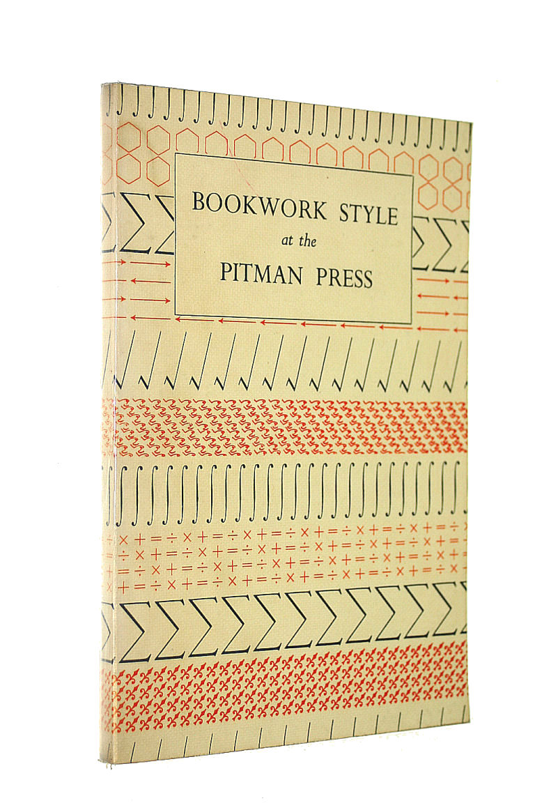 Image for Bookwork Style at the Pitman Press