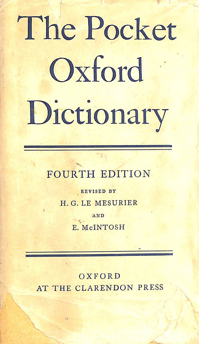 Image for The Pocket Oxford Dictionary Of Current English.
