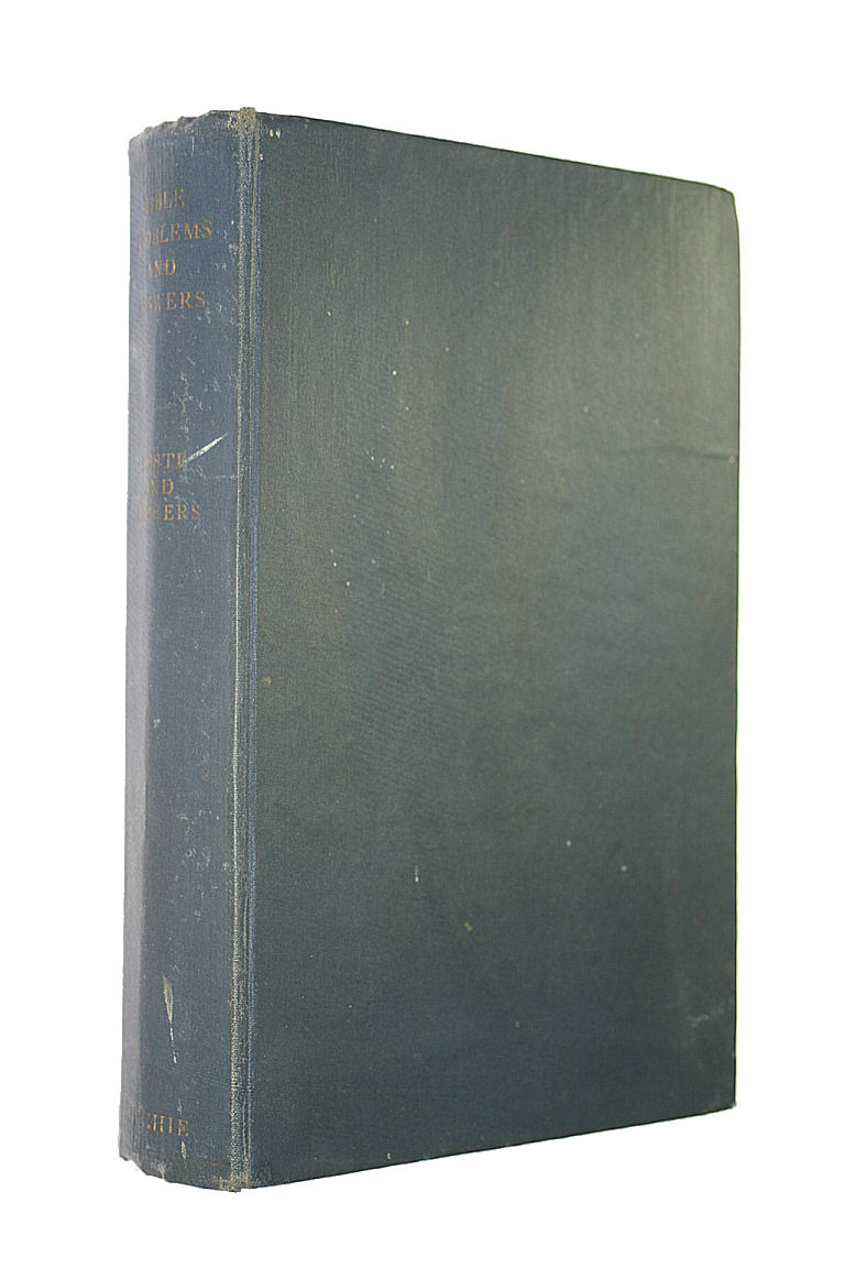 Image for Bible Problems And Answers (UNCOMMON HARDBACK FIRST EDITION)