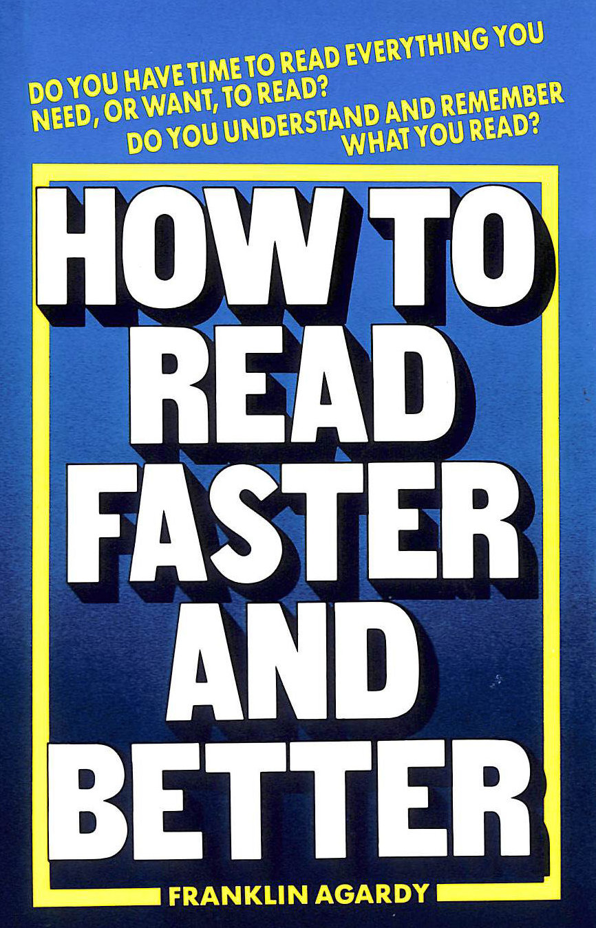 Image for How to Read Faster and Better