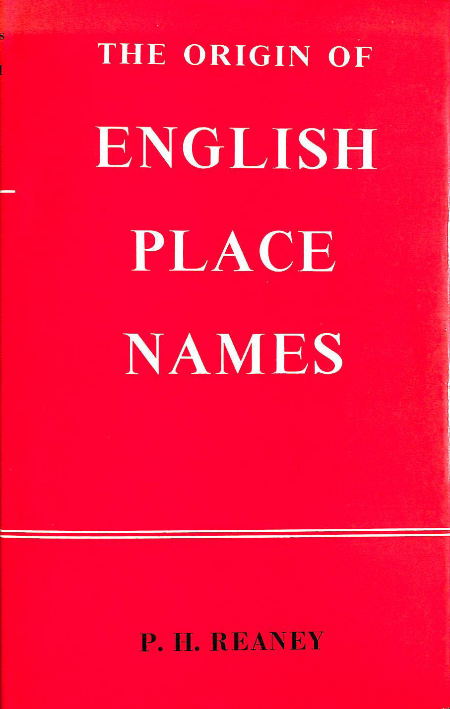 Image for Origin of English Place-names