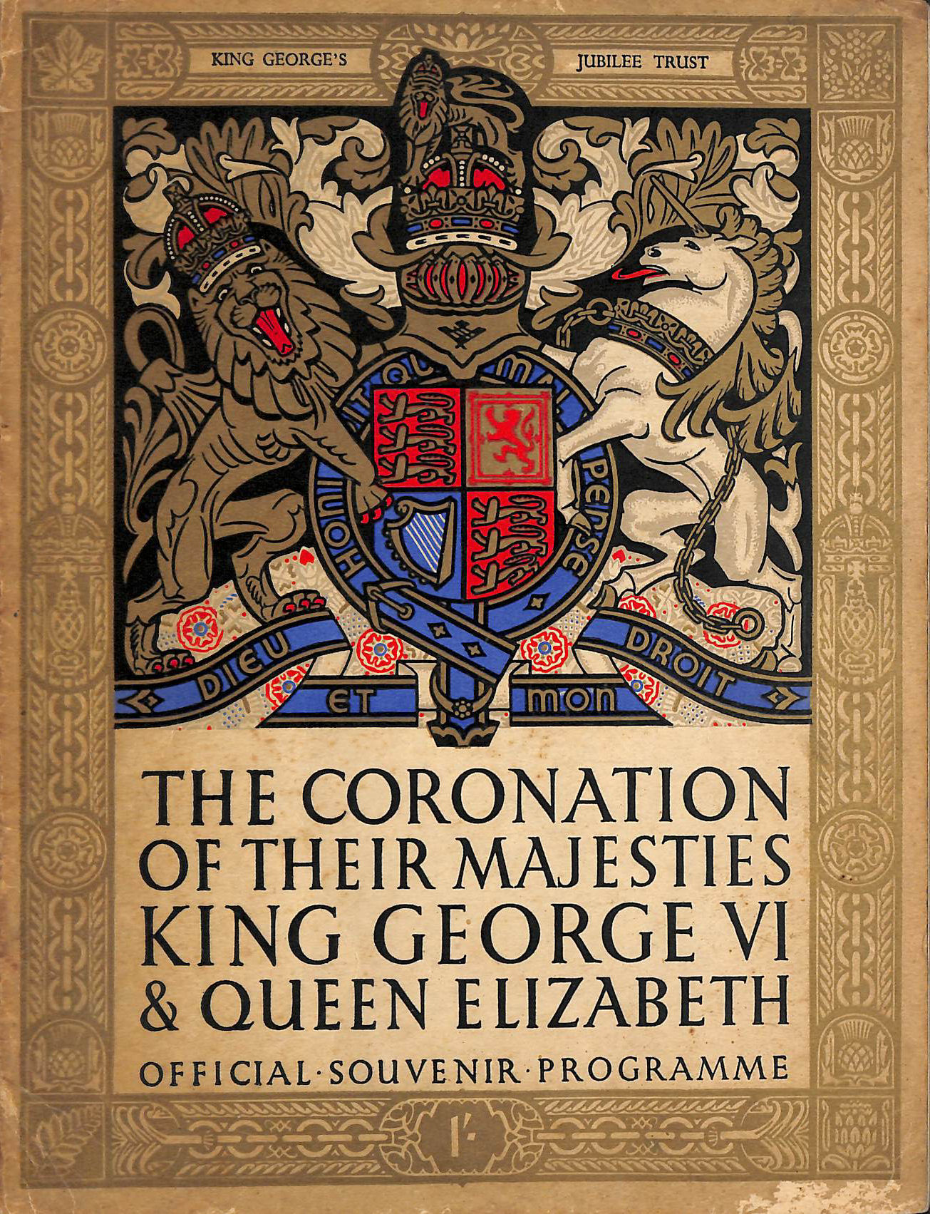 Image for The Coronation of Their Majesties King George VI and Queen Elizabeth - Official Souvenir Programme May 12th 1937