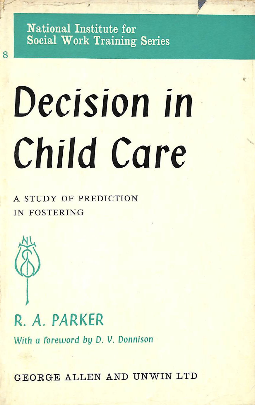 Image for Decision in Child Care (National Institute Social Services Library)