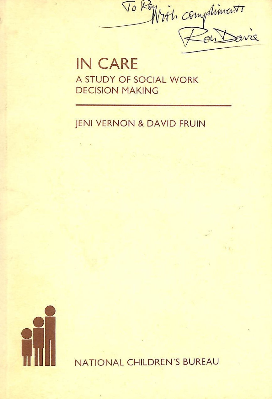 Image for In Care: Study of Social Work Decision Making