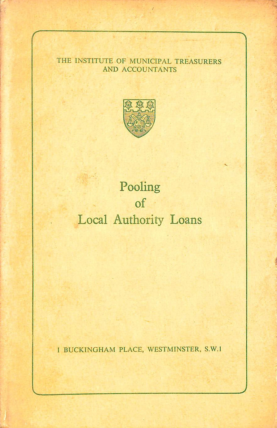 Image for Pooling of Local Authority Loans