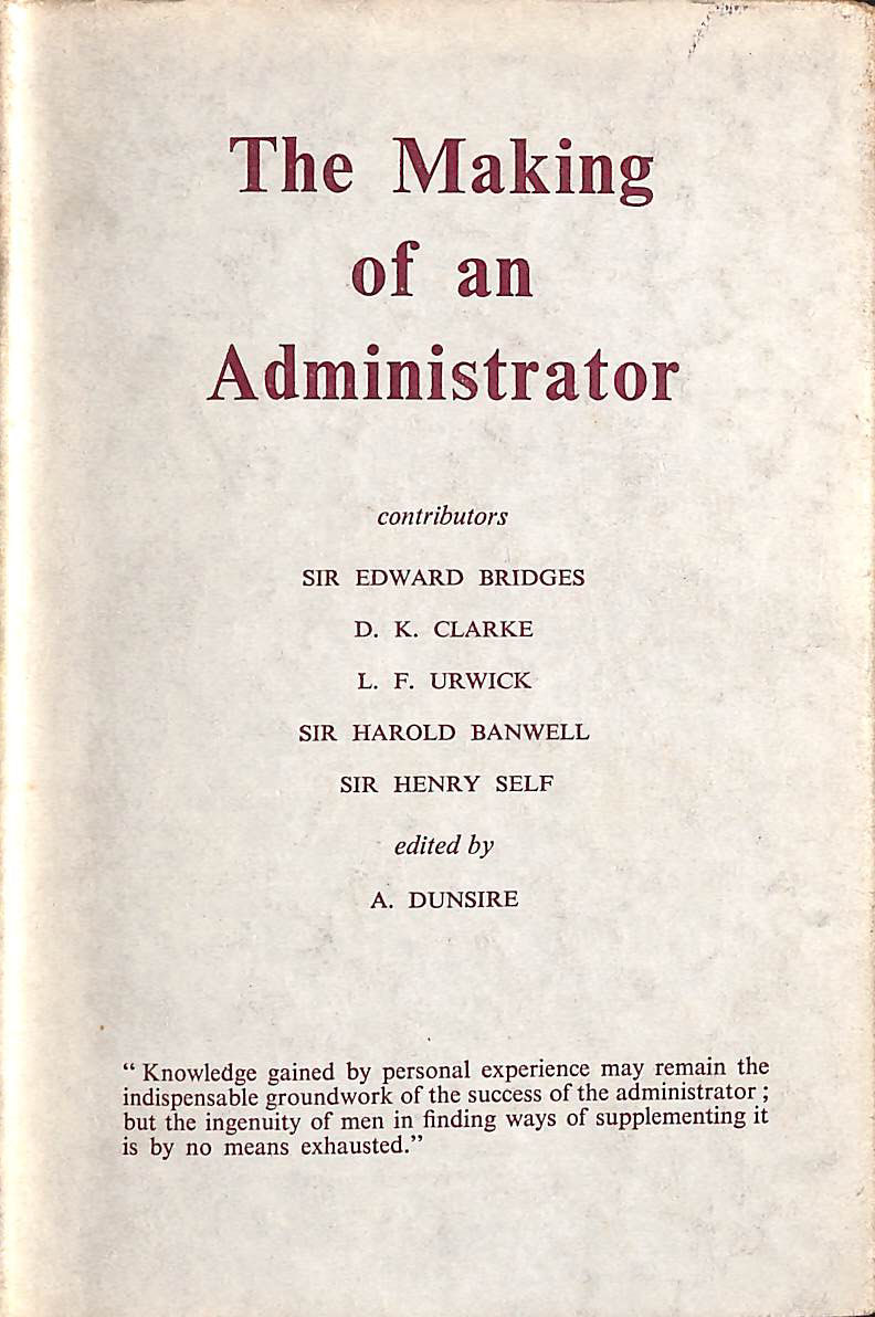 Image for The Making of an administrator