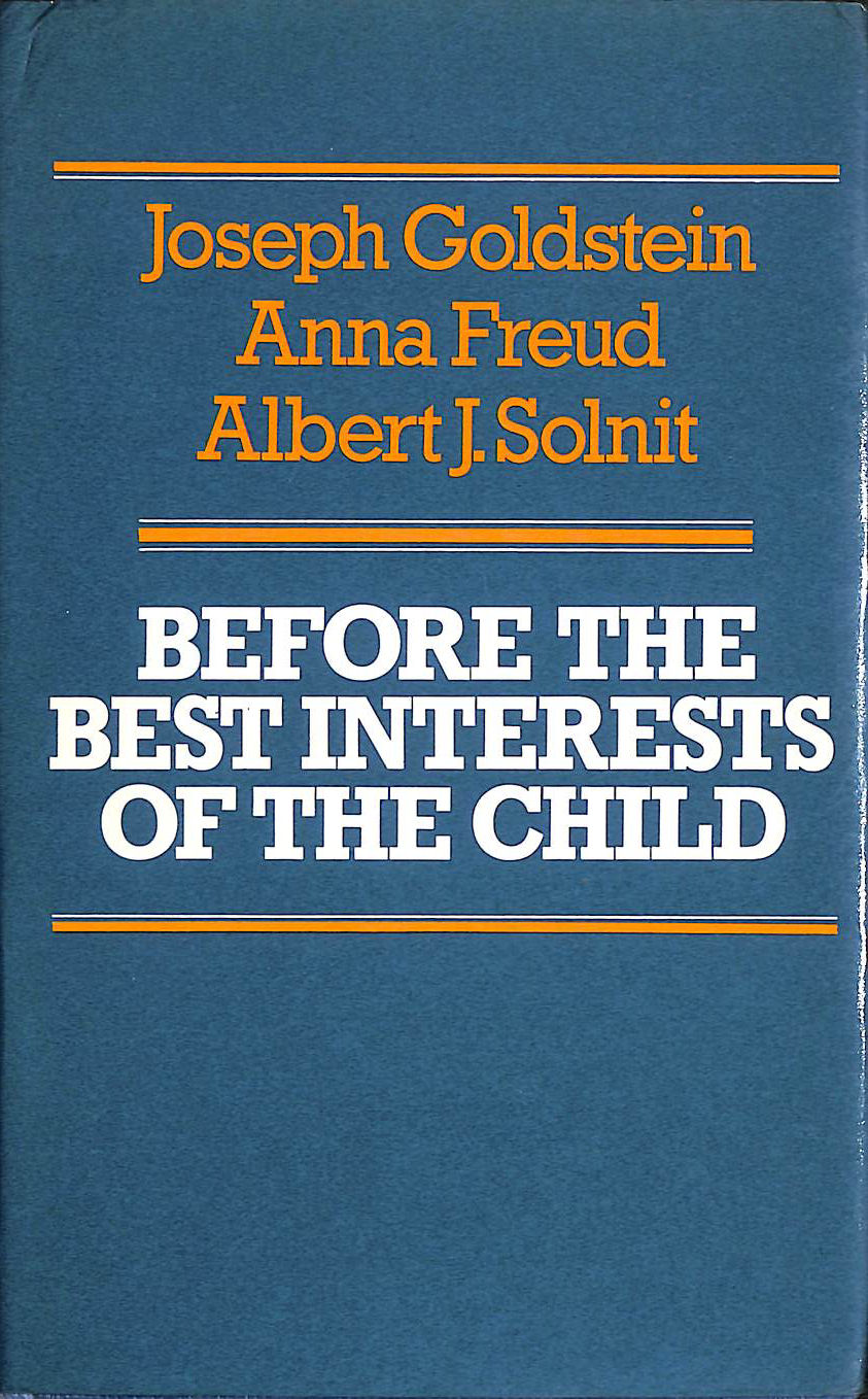 Image for Before the Best Interests of the Child