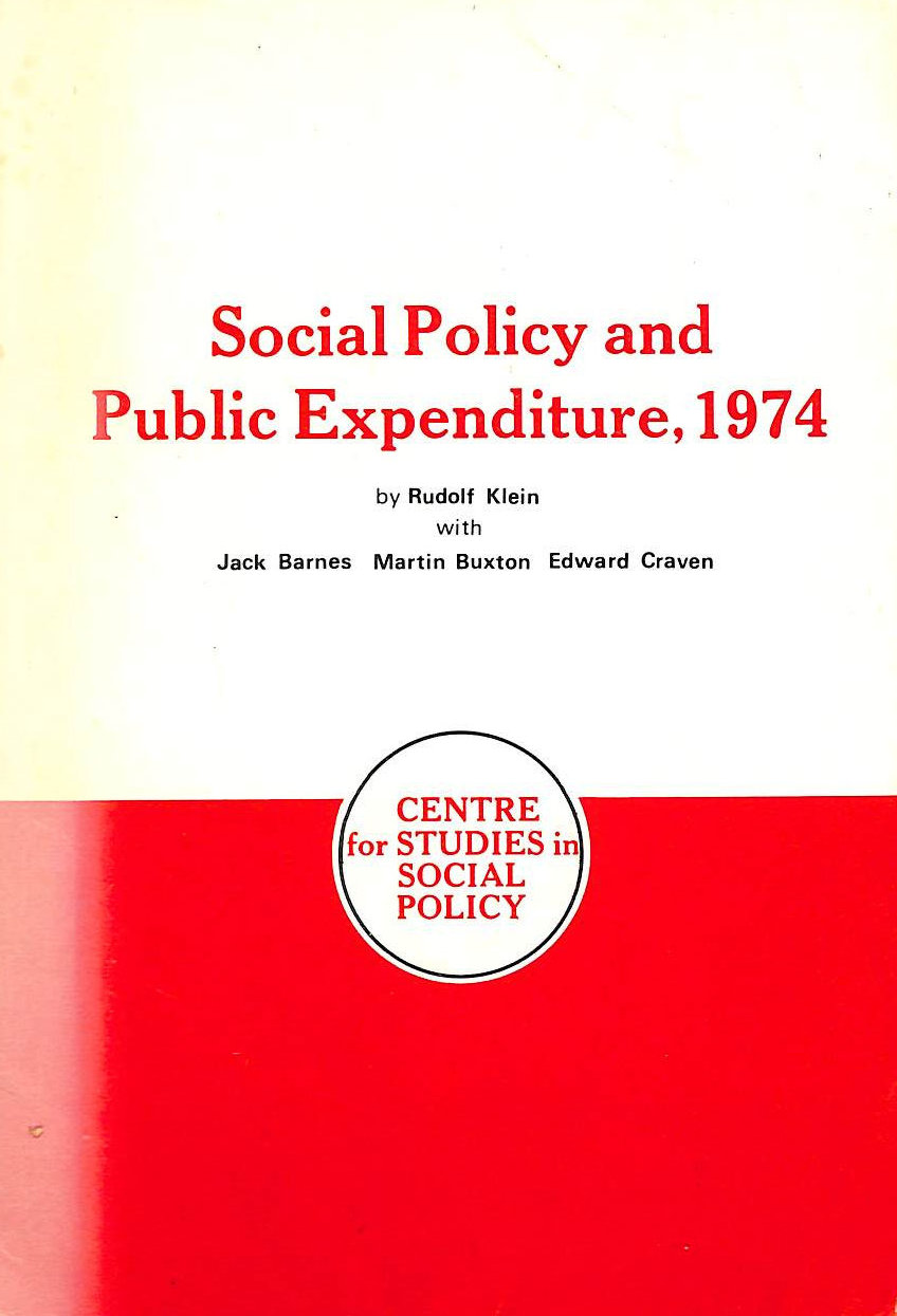 Image for Social Policy and Public Expenditure 1974: An Interpretative Essay