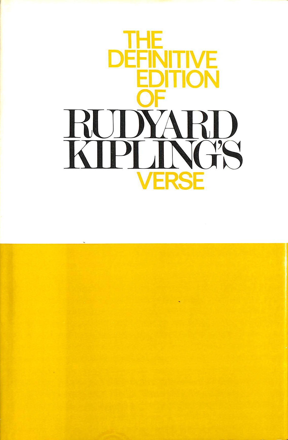 Image for Definitive Edition of Rudyard Kipling's Verse