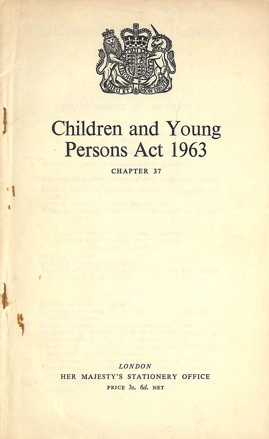 HMSO - Children and Young Persons Act 1963