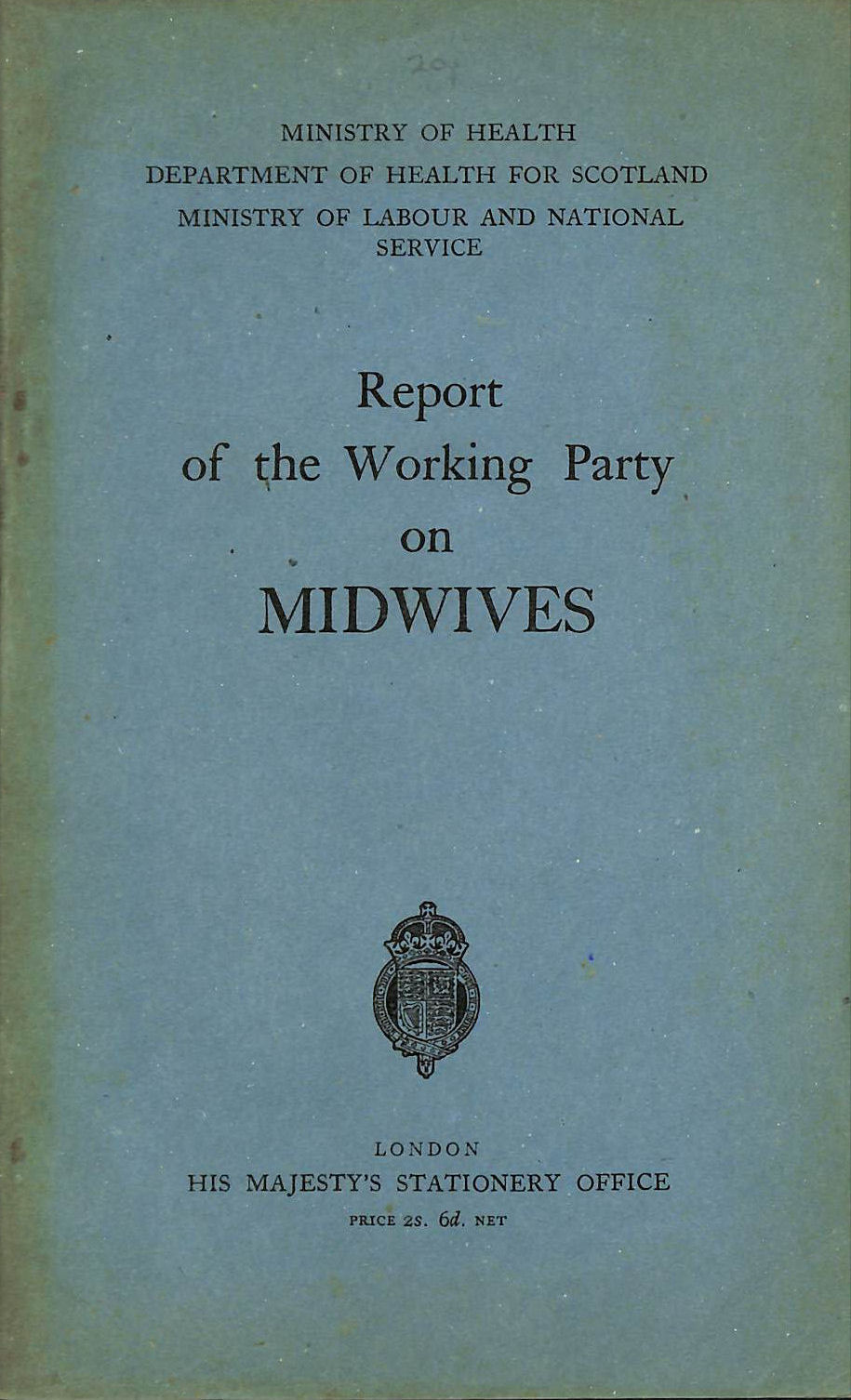Image for Report of the working party on midwives