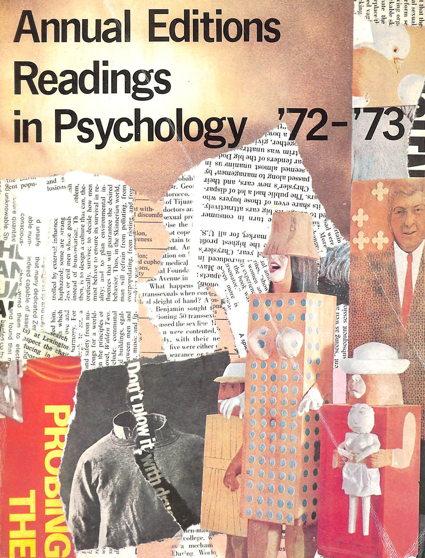 Image for Annual Editions: Readings in Psychology '72-'73