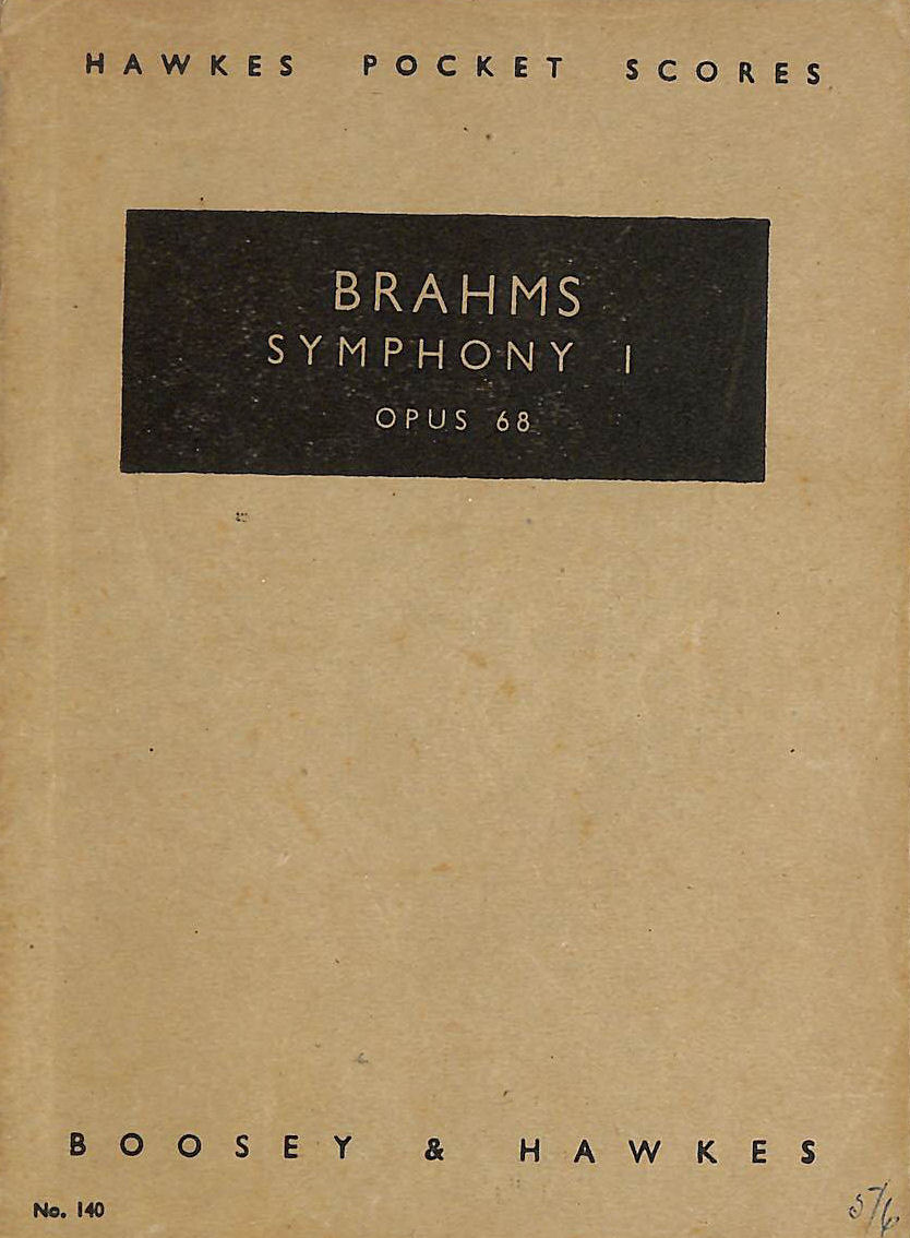 Image for Brahms: Symphony 1. Opus 68 (HAWKES POCKET SCORES)