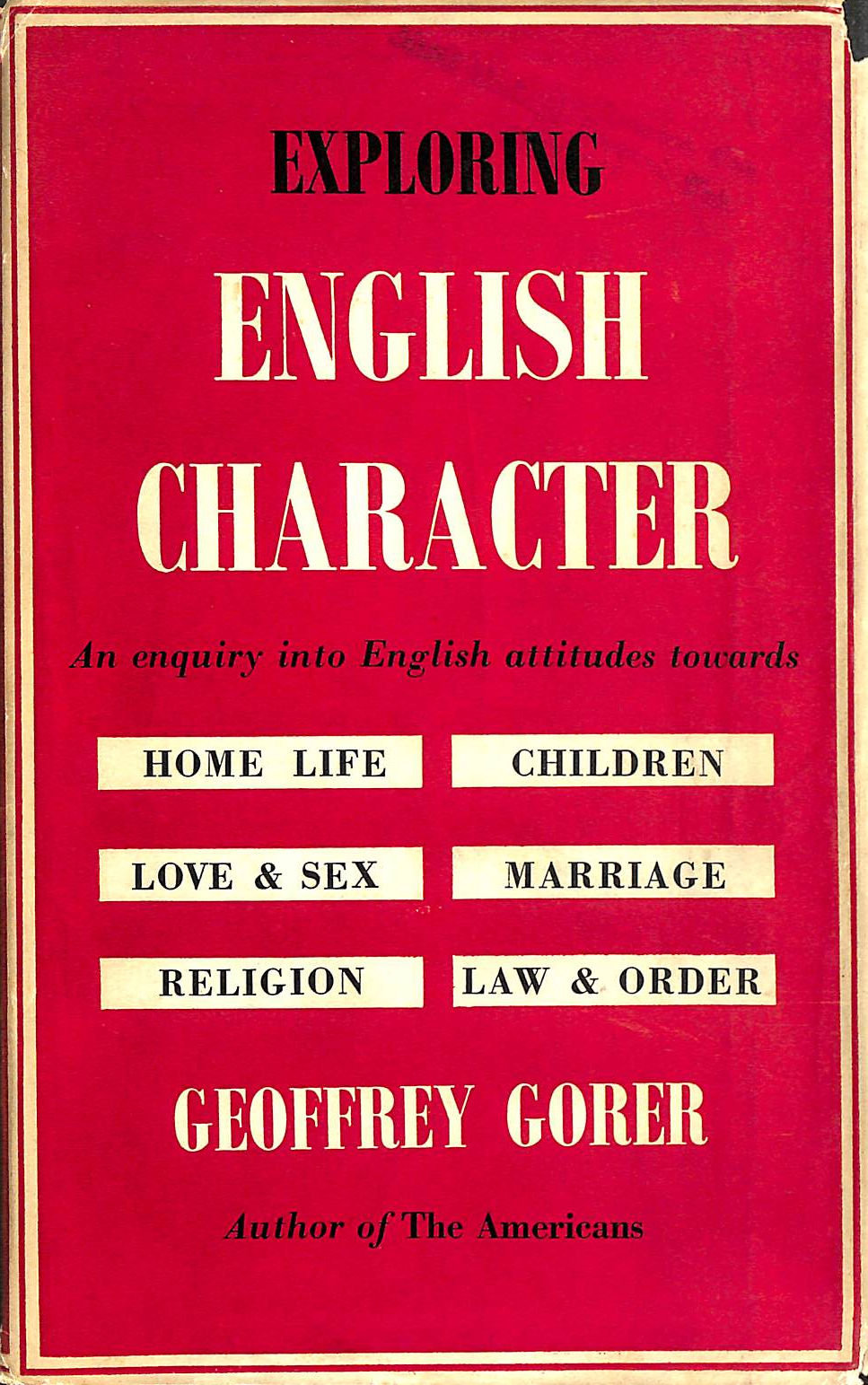 Image for Exploring English Character