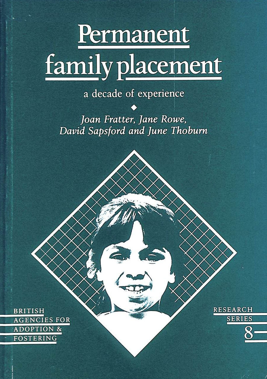 Image for Permanent Family Placement: A Decade of Experience (Research series)